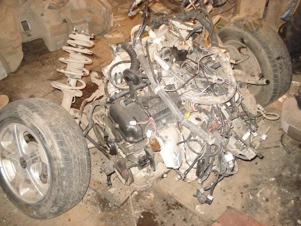 двигатель и задняя подвеска багги