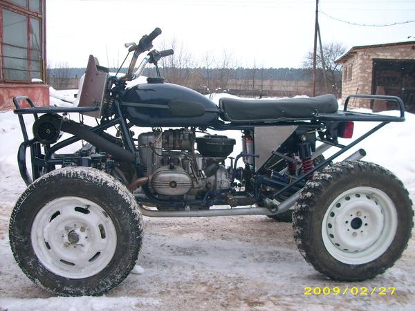 Квадроцикл своими руками с фото