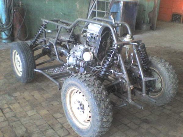 Квадроцикл своими руками с двигателем от оки
