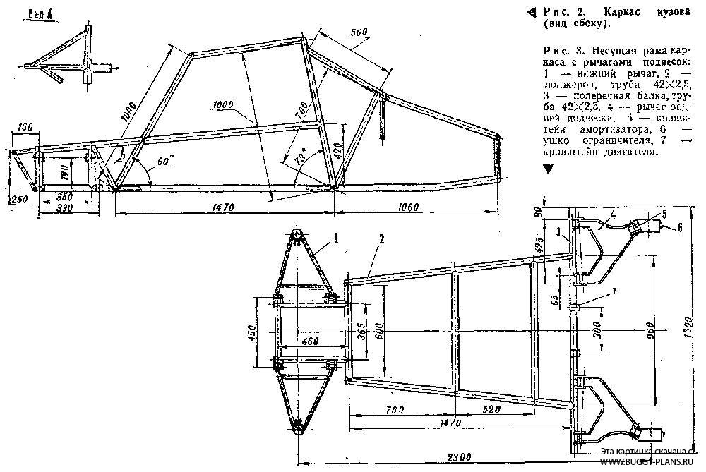 Самодельный багги чертежи с размерами